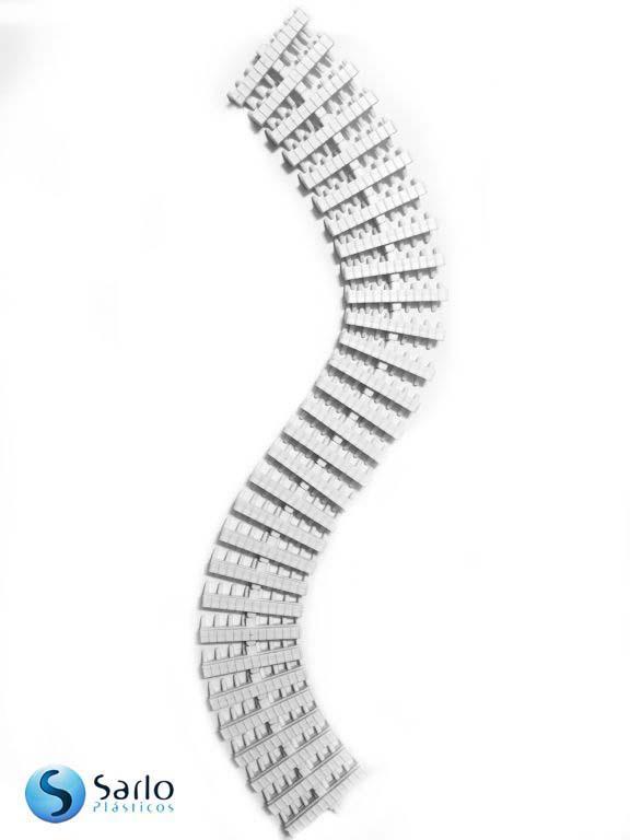 Grelha plastica flexivel de piscina