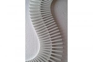 Grelha Branca 15 Centímetros - metro linear